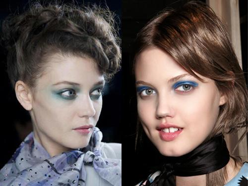 Aquatic eyes- Spring Makeup Trend 2014