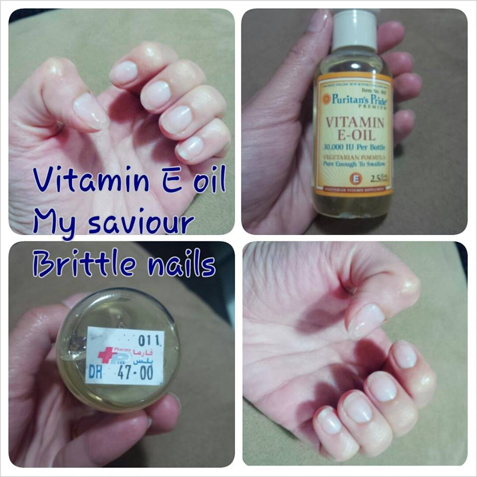 Vitamin e oil for Brittle nails