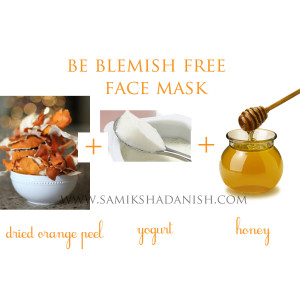 dried orange peel face mask 1
