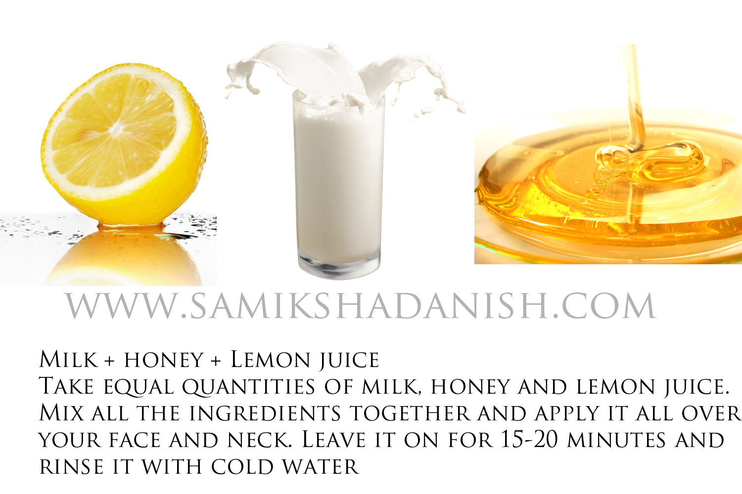 milk honey and lemon juice