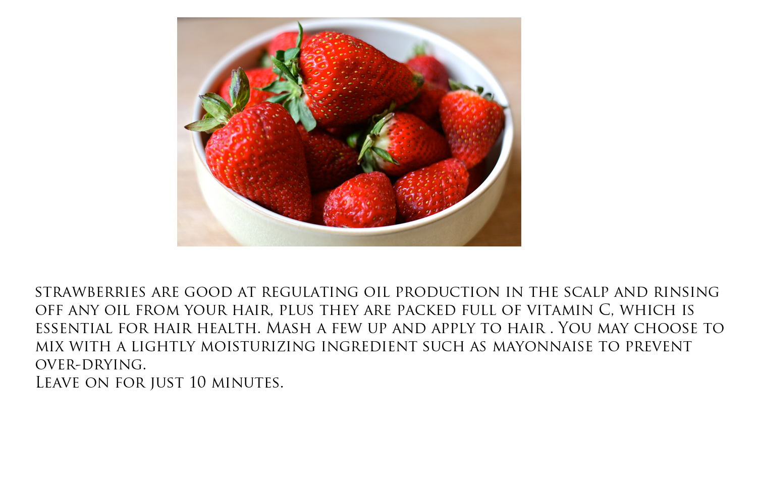 strawberry hair mask for oily scalp