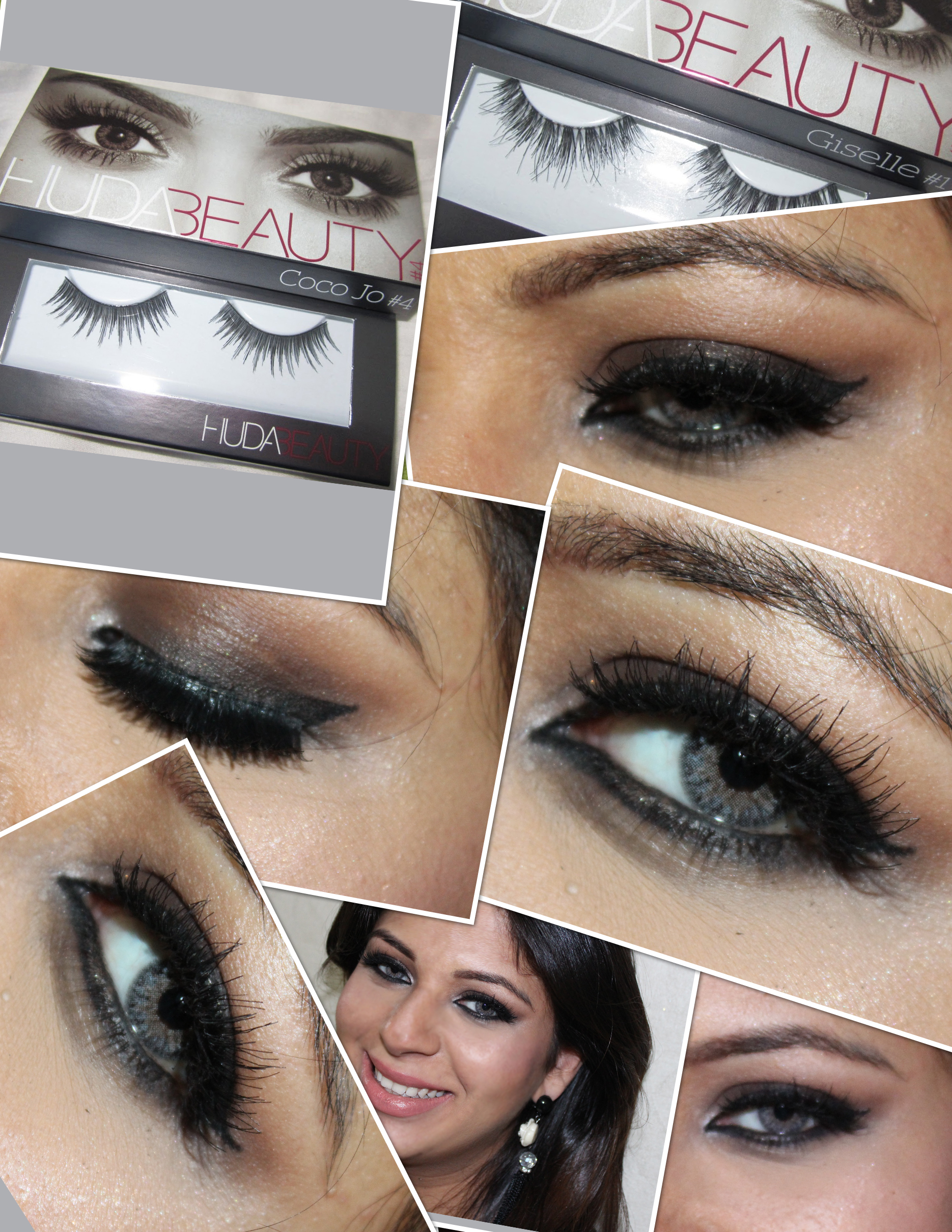 Huda Beauty Lashes in Giselle and Coco Jo
