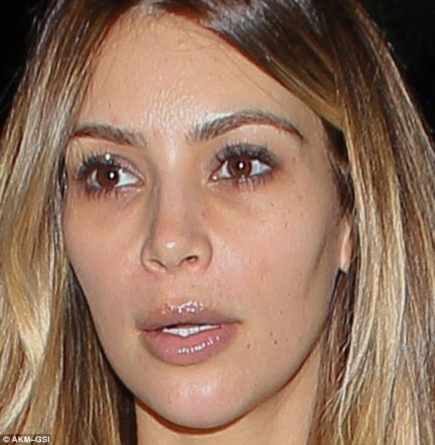 Kim Kardashian  before her$21,600 facial