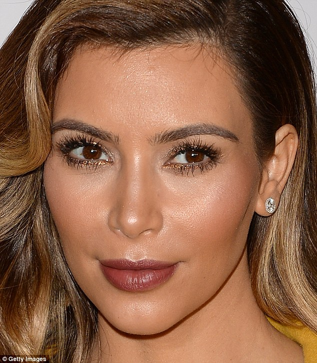 Kim Kardashian  after her$21,600 facial