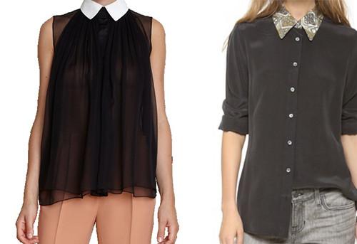 Contrast Collar - Spring Summer 2014 Trend