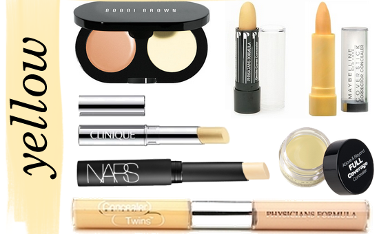 Yellow color concealers