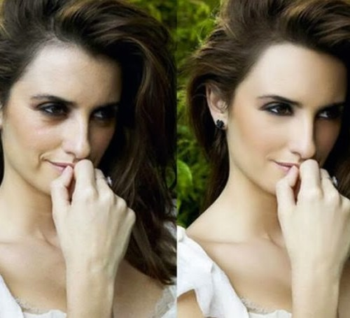 celebrities before and after photoshop- Samiksha Danish