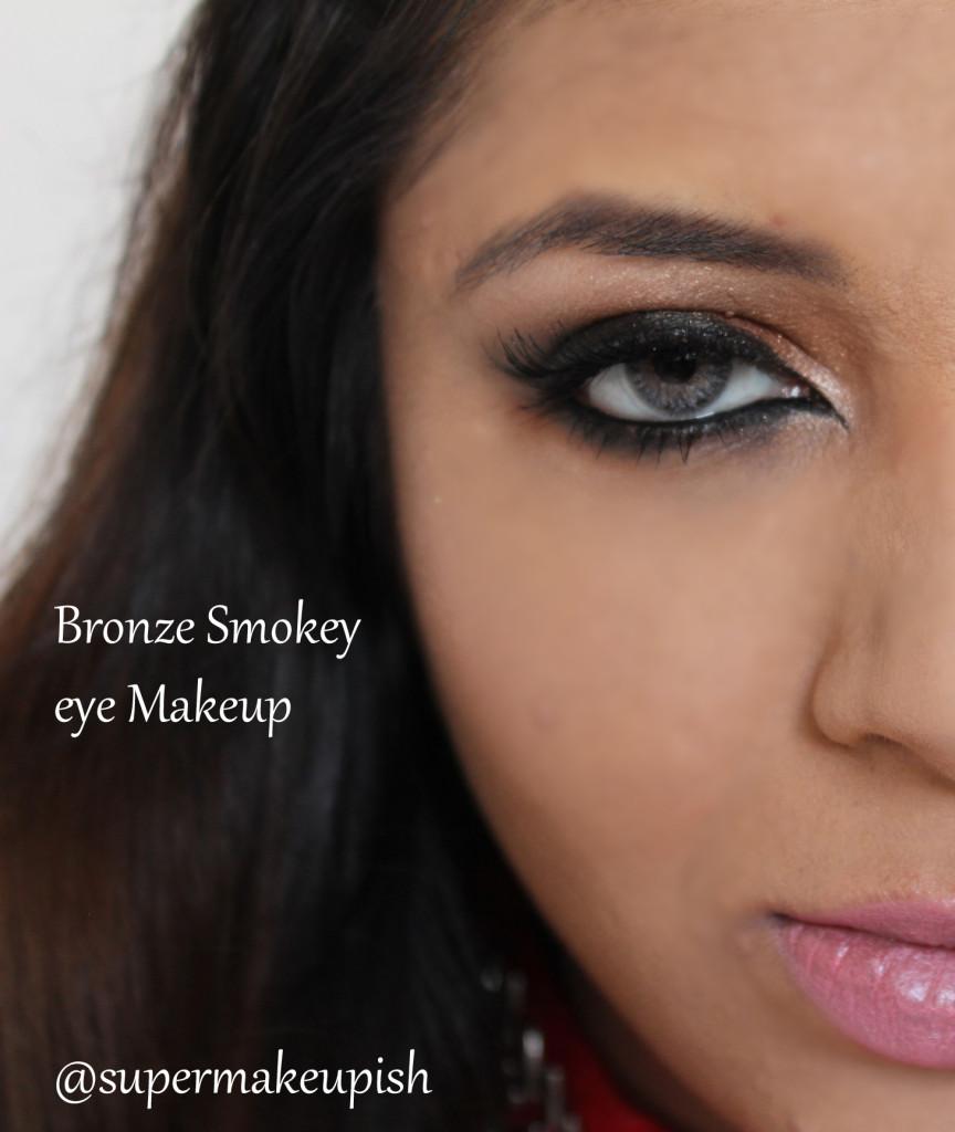 Under 5 Minute makeup : Bronze Smokey eye