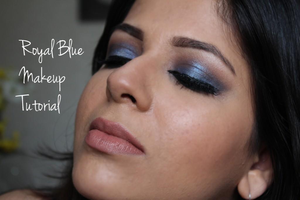 Royal blue eye makeup video