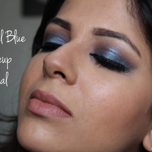Royal blue eye makeup video