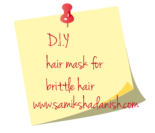 DIY hair mask for brittle hair