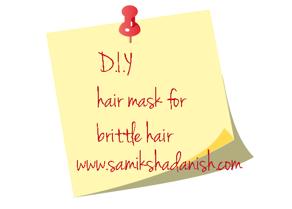 DIY hair mask for brittle hair