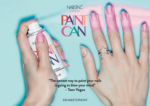Spray on nail polish by nailsinc London